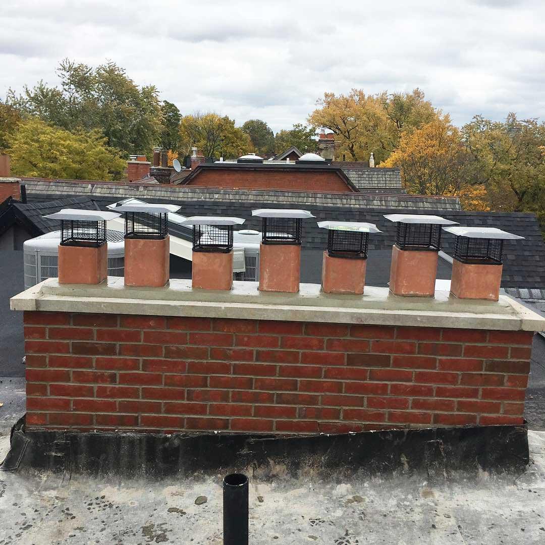 Now a 7 flue chimney after the rebuild
